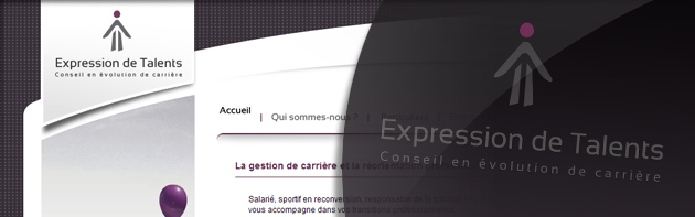 Conception du site internet d'Expression de Talents